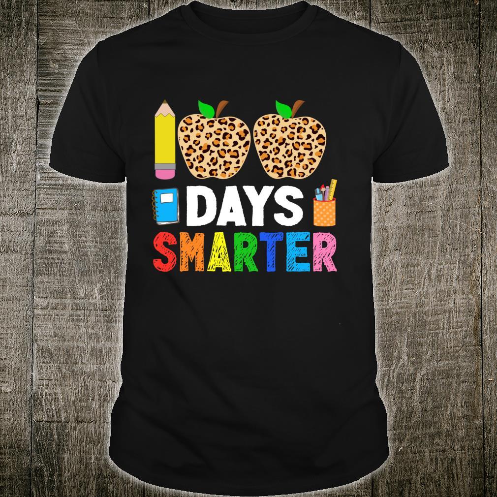 100 Days Smarter School Leopard Print Teacher And Student Shirt