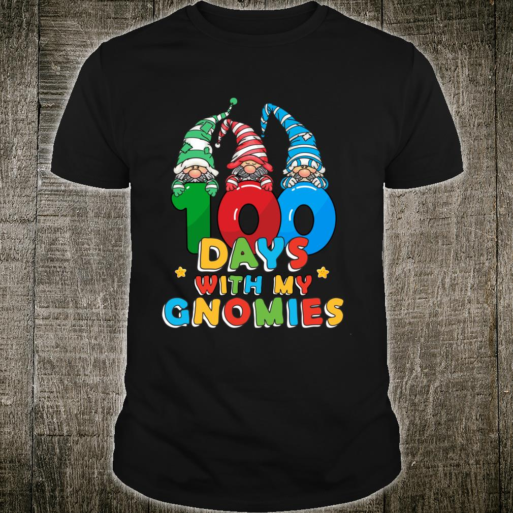 100 Days With My Gnomies Cute 100th Day Of School Boys Shirt