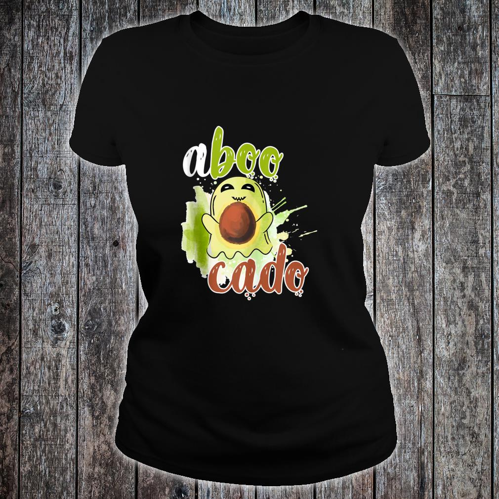 Aboocado Ghost Boo Pun Halloween Avocado Costume Shirt ladies tee