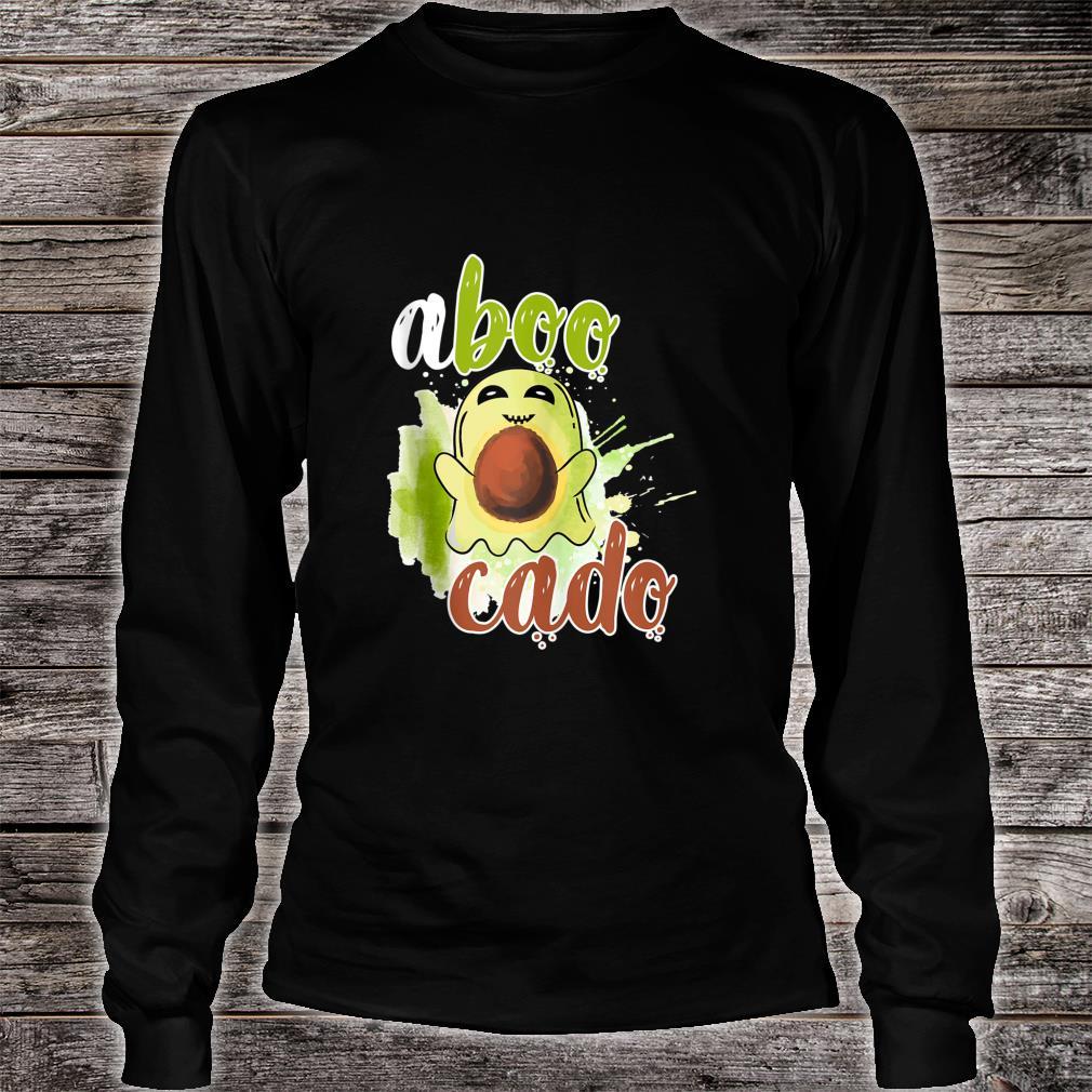 Aboocado Ghost Boo Pun Halloween Avocado Costume Shirt long sleeved