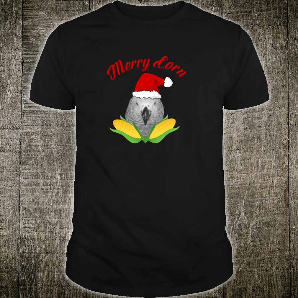 African Grey Parrot Merry Corn Christmas Shirt
