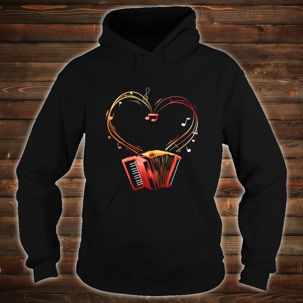 Akkordeon Herz Instrument Ziehharmonika Orchester Geschenk Shirt hoodie