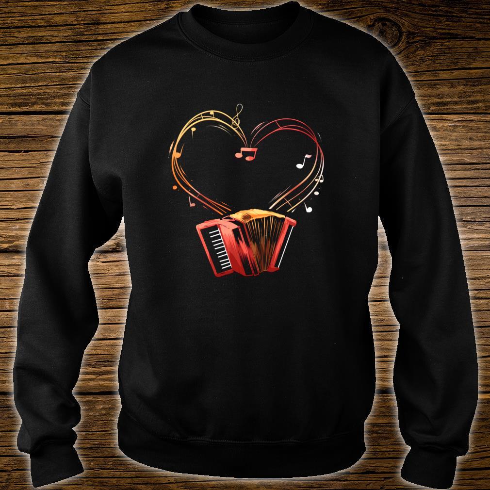 Akkordeon Herz Instrument Ziehharmonika Orchester Geschenk Shirt sweater