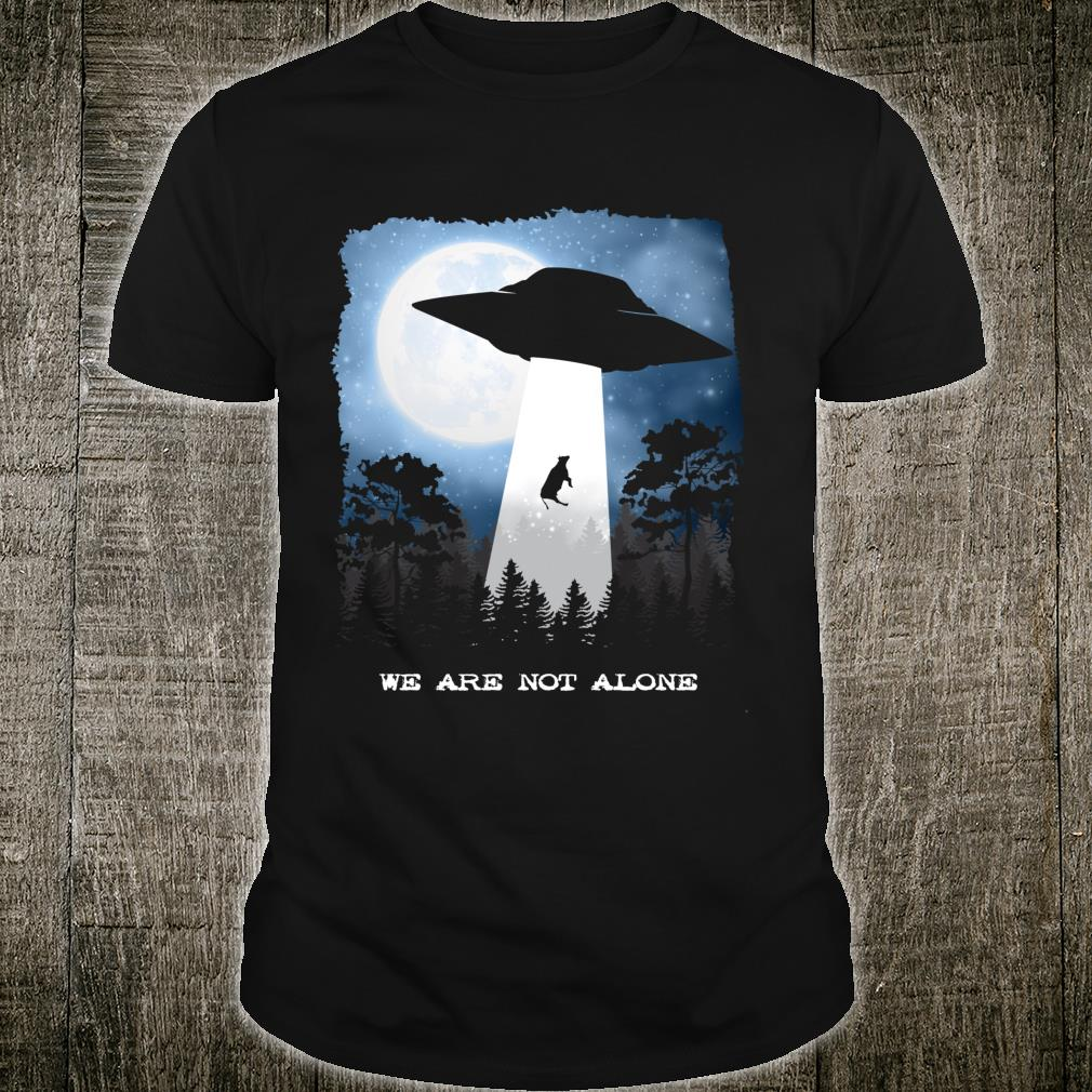 Alien Abduction Cow UFO We Are Not Alone Shirt