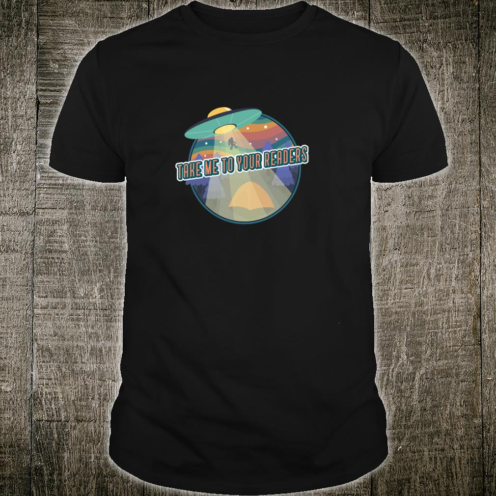 Alien Reading English Teacher Library Alien Space Shirt