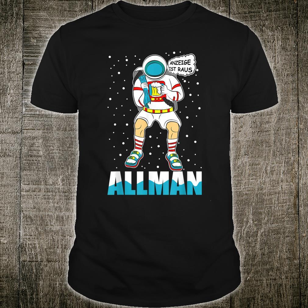 Alman Astronaut Deutsche Meme Anzeige Sandalen Socken Bier Shirt