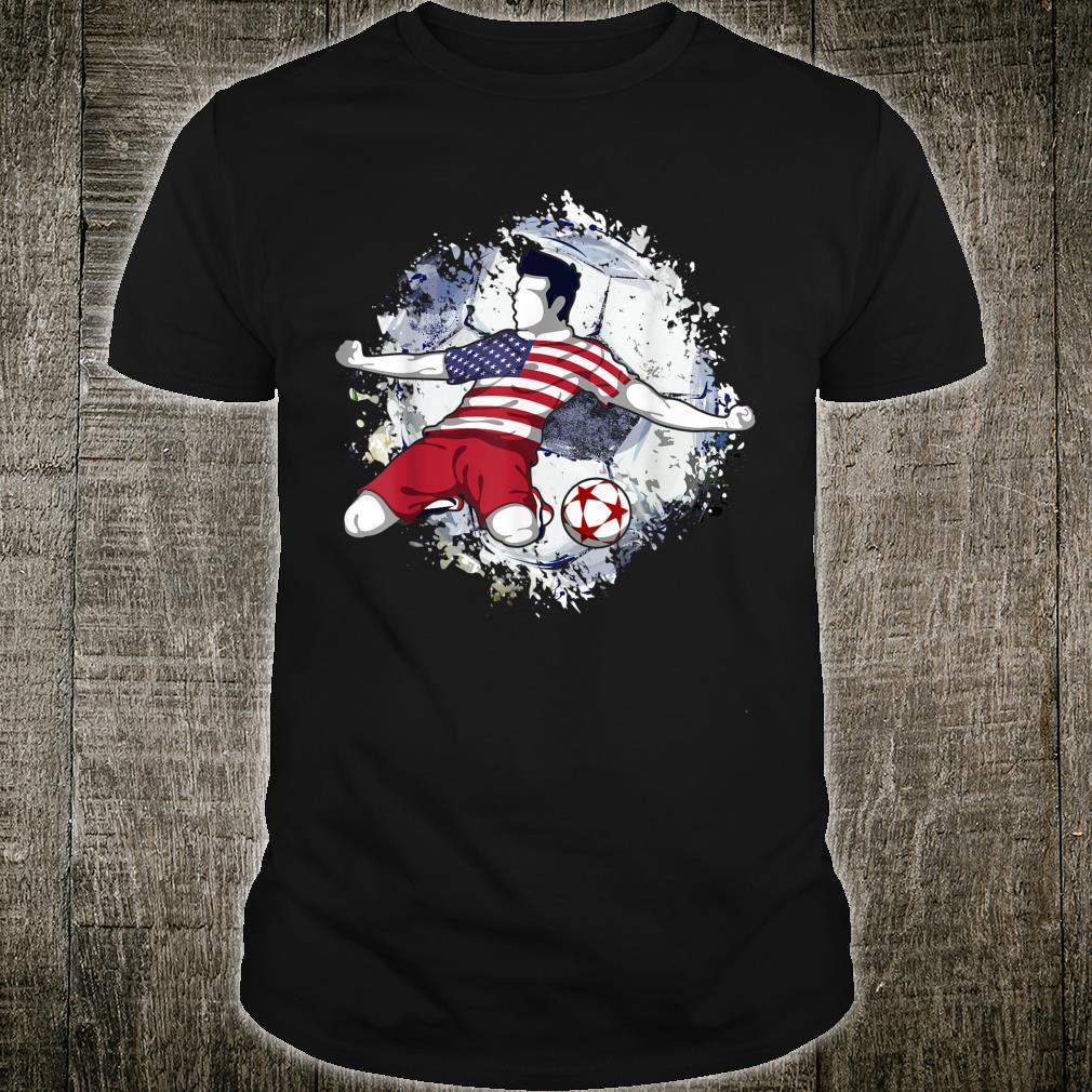America Soccer US National Flag Football Shirt