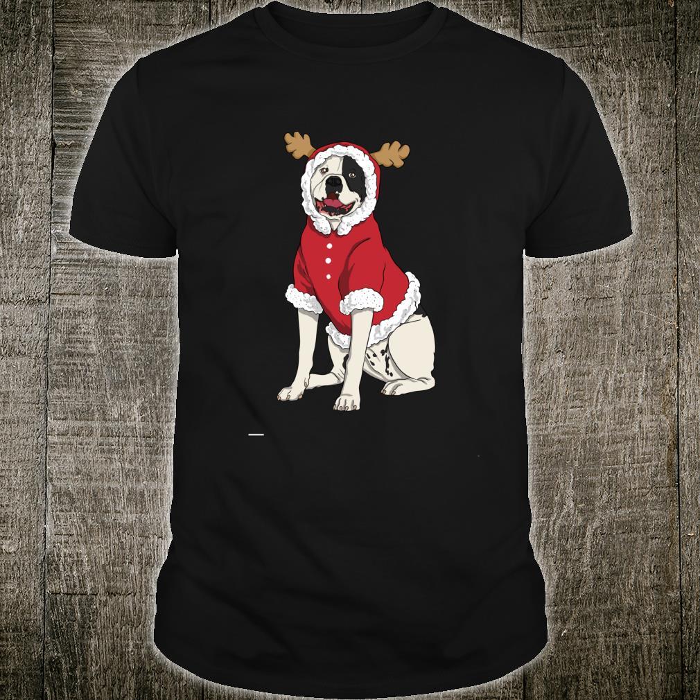 American Bulldog Christmas Dog Santa Xmas Shirt