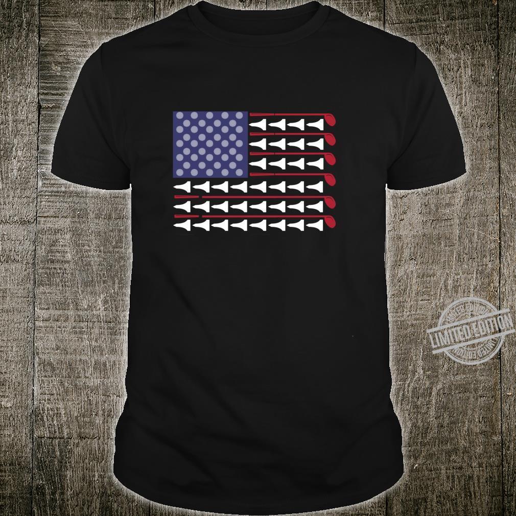 American Flag Golf Awesome Golfers Golfing Golf Shirt