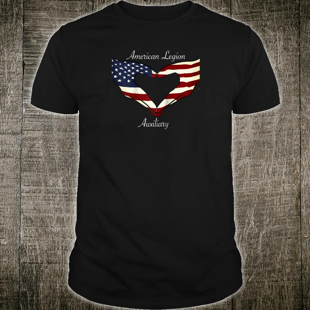 American Legion Auxiliary Flag Hands In Heart Military Vet Shirt