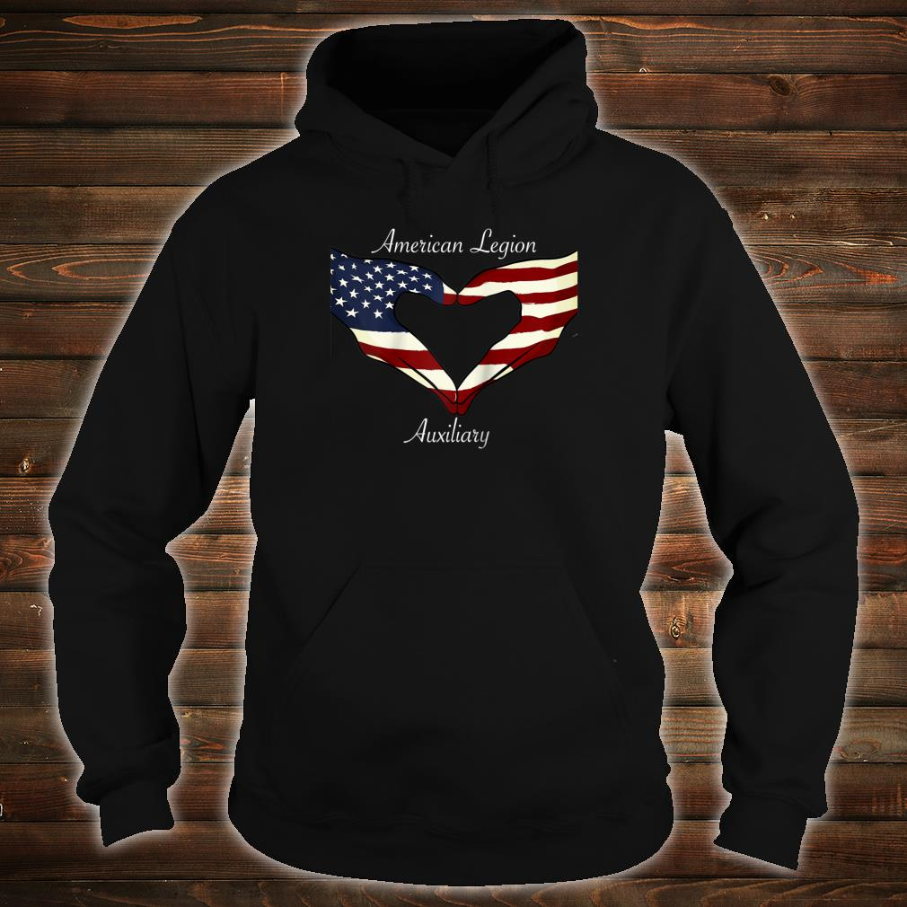American Legion Auxiliary Flag Hands In Heart Military Vet Shirt hoodie