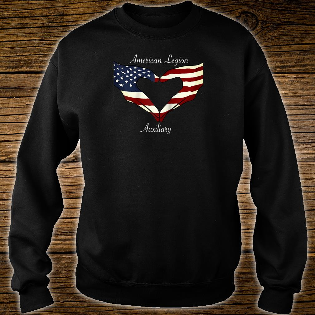 American Legion Auxiliary Flag Hands In Heart Military Vet Shirt sweater
