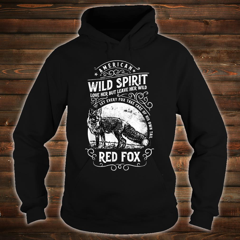 American Wild Spirit red Fox Vintages Shirt hoodie