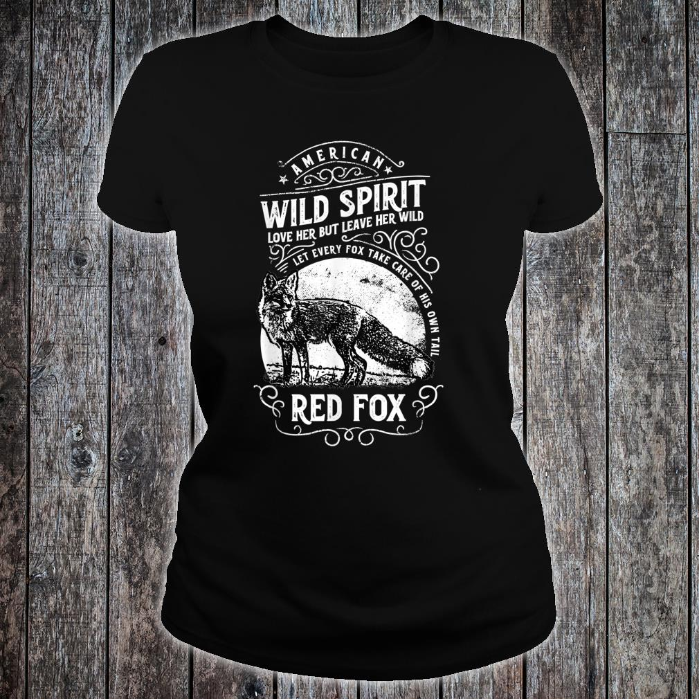 American Wild Spirit red Fox Vintages Shirt ladies tee