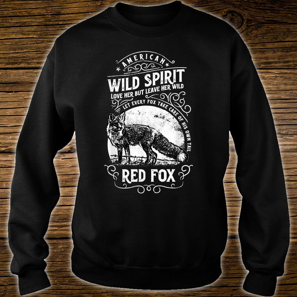 American Wild Spirit red Fox Vintages Shirt sweater
