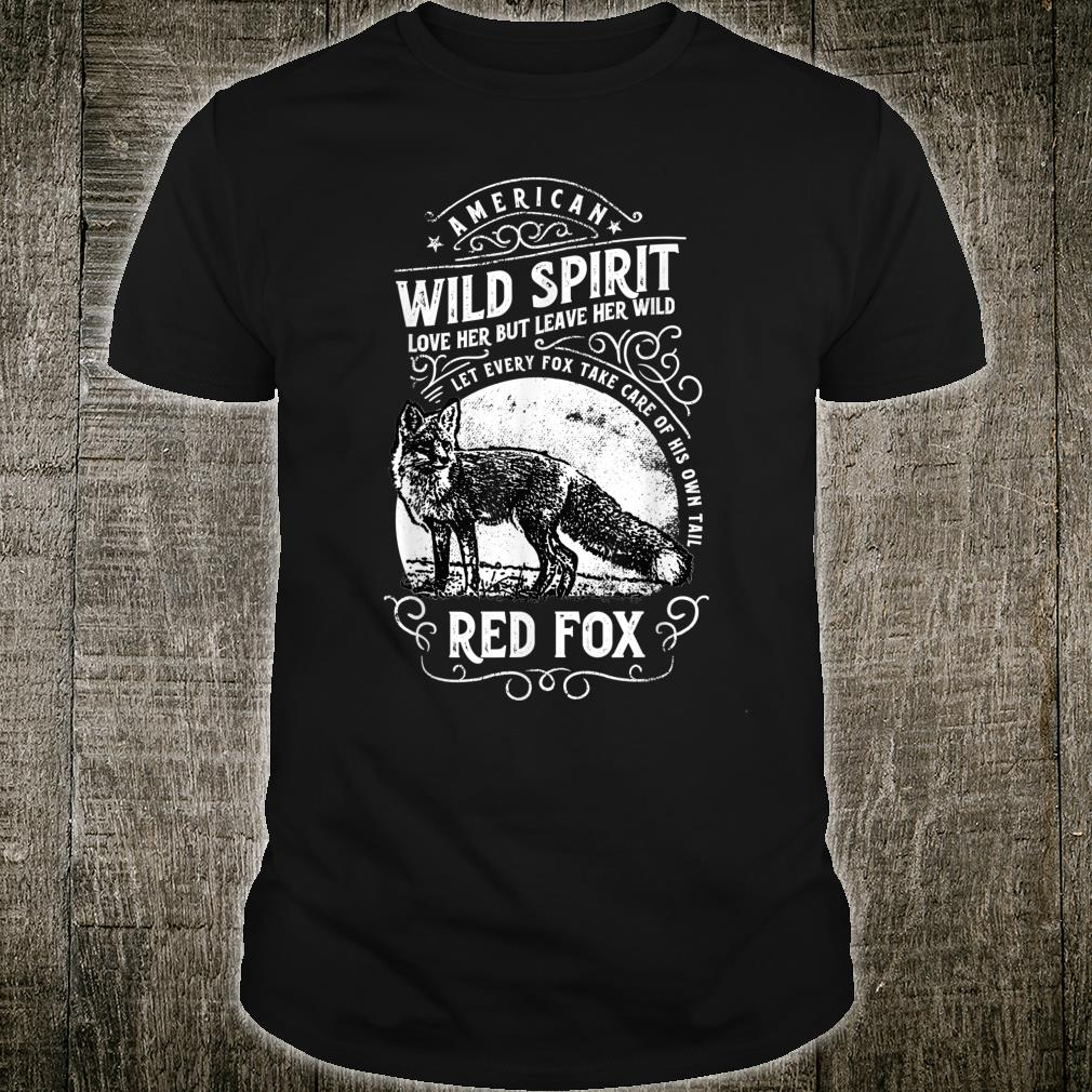 American Wild Spirit red Fox Vintages Shirt