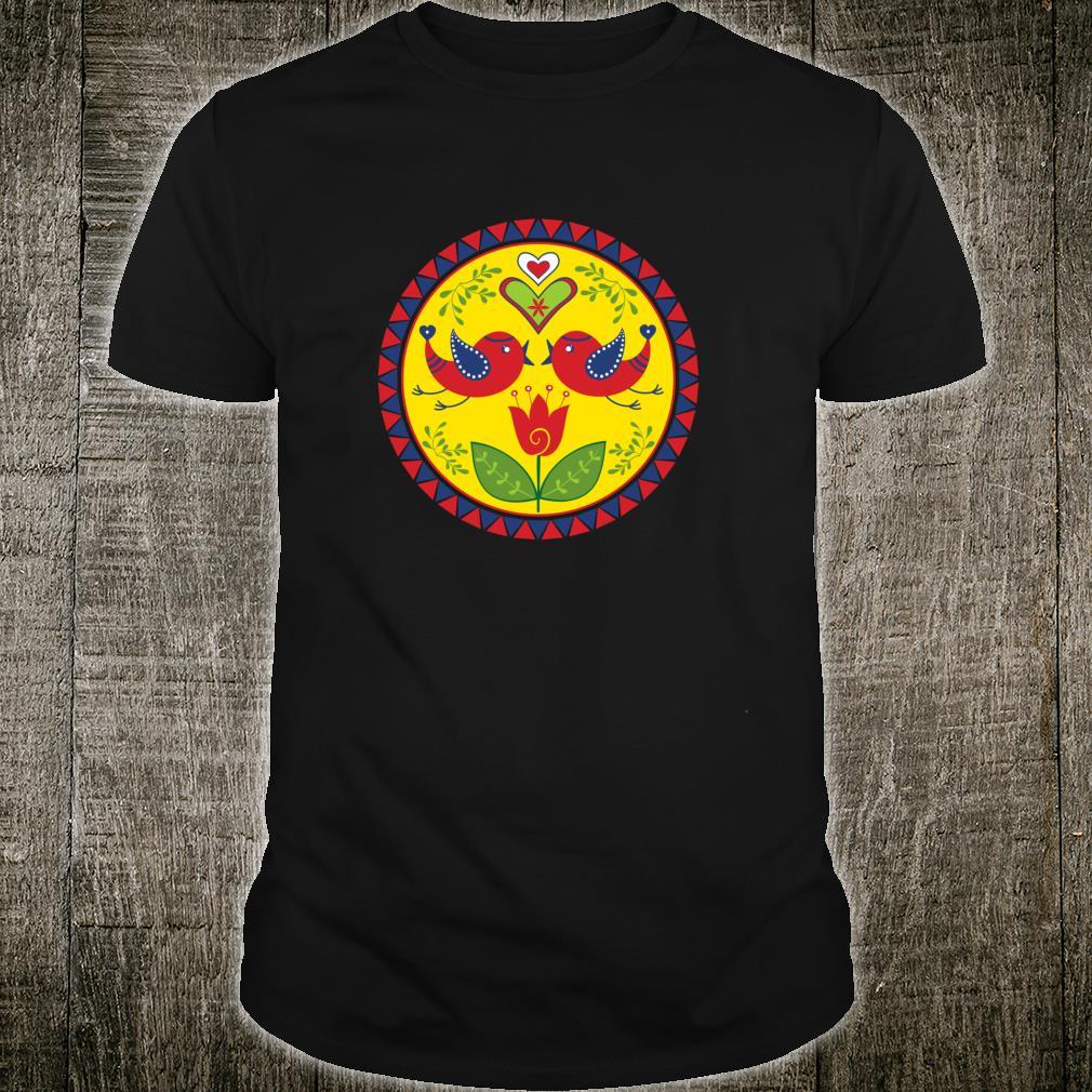 Amish Hex Sign Distelfinks Tulip Hearts Triangles 1 Fun Shirt