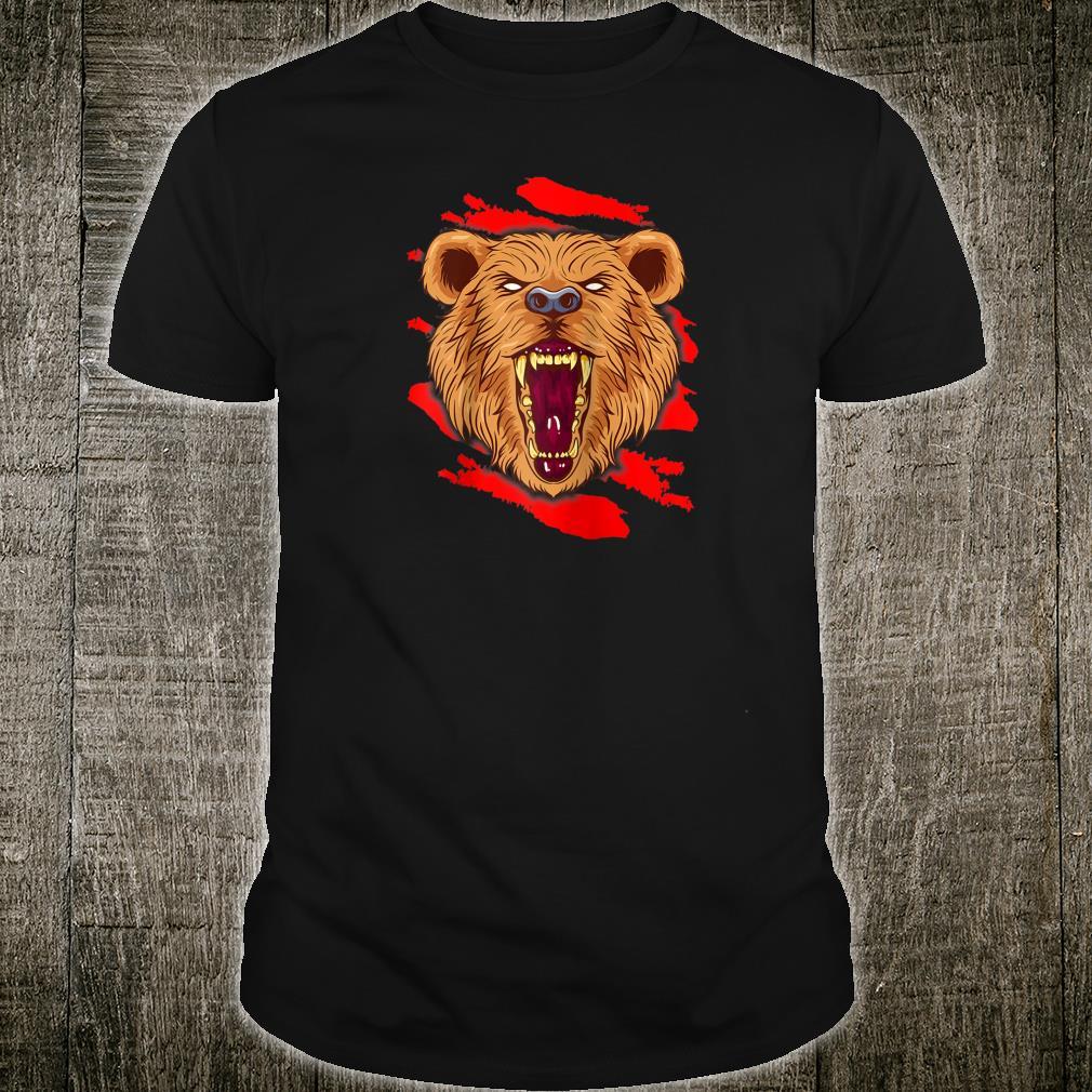 Angry Roaring Bear for Wild Animal and Bear Shirt