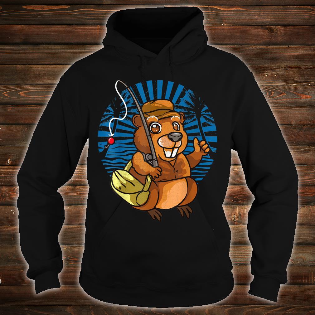Animal Crossover Beavers Fisherman Shirt hoodie