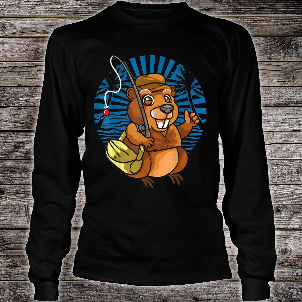 Animal Crossover Beavers Fisherman Shirt long sleeved
