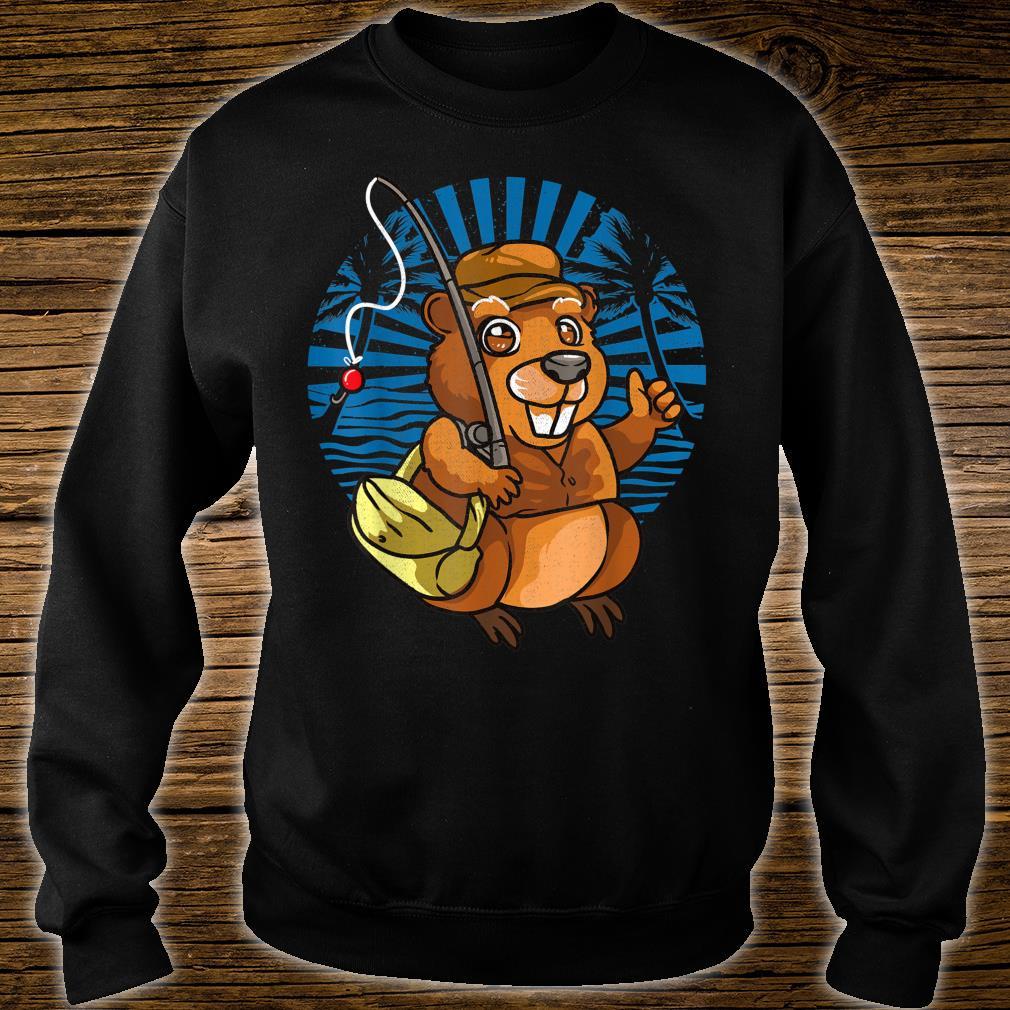 Animal Crossover Beavers Fisherman Shirt sweater