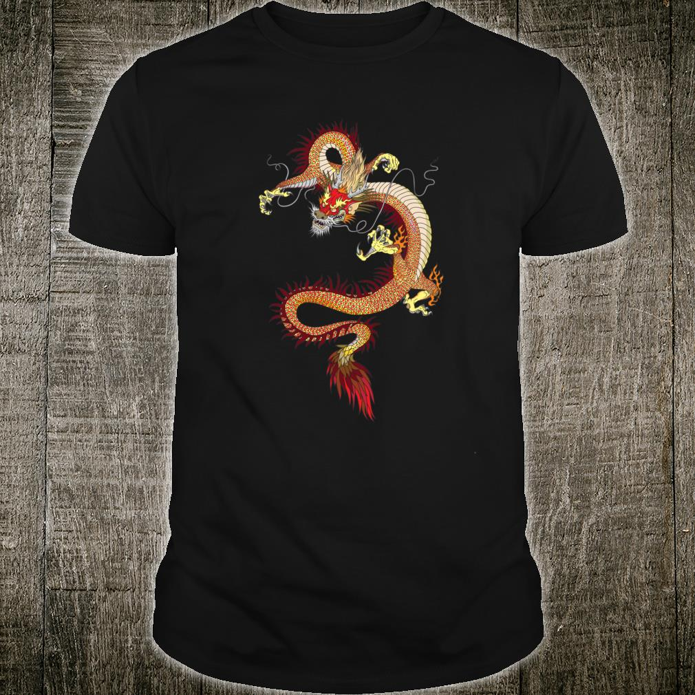 Asia History Dragon Tattoo Chinese Mythology Shirt