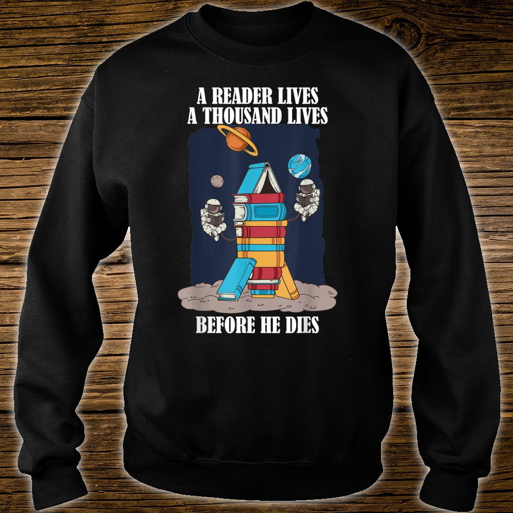 Astronaut Readers Science Fiction Reading Books Nerd Shirt sweater