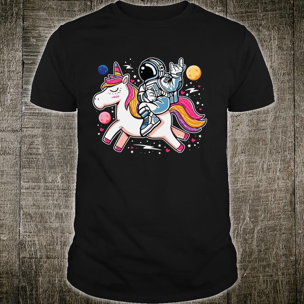 Astronaut Riding A Unicorn Cute Magical Galaxy Shirt
