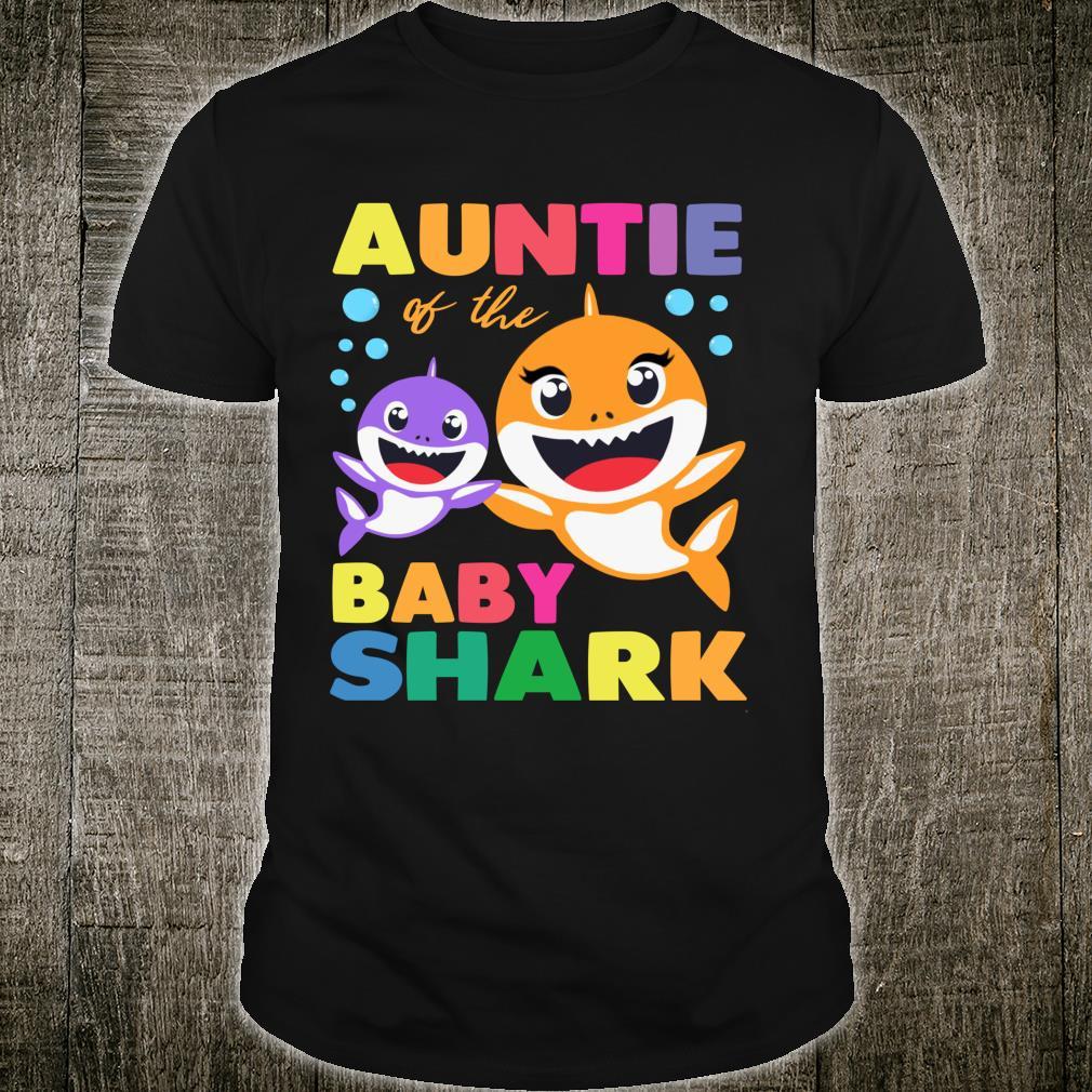 Aunt Of The Baby Shark Birthday Aunt Shark Shirt Shirt
