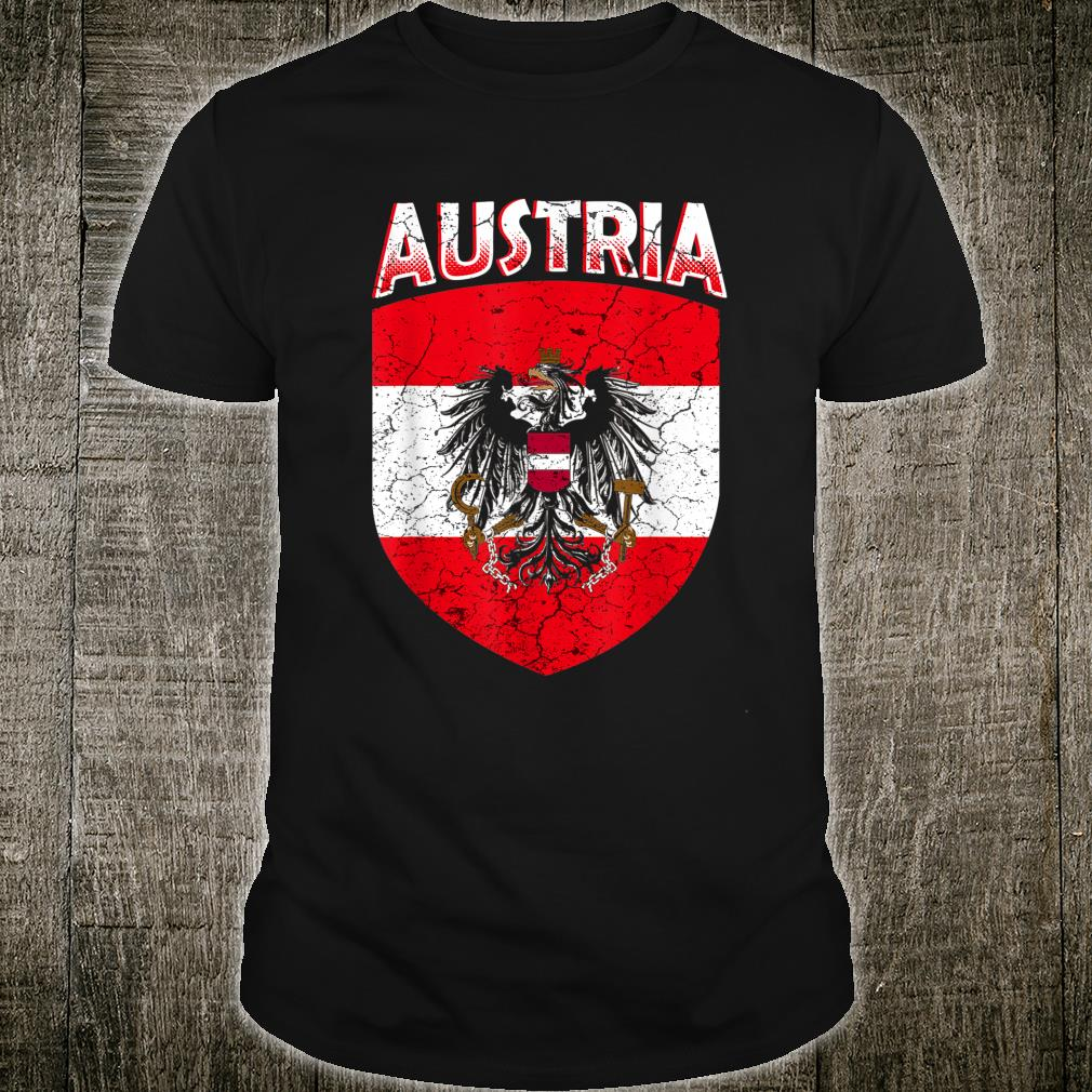 Austria Flag Retro National Pride Austrian Home Shirt