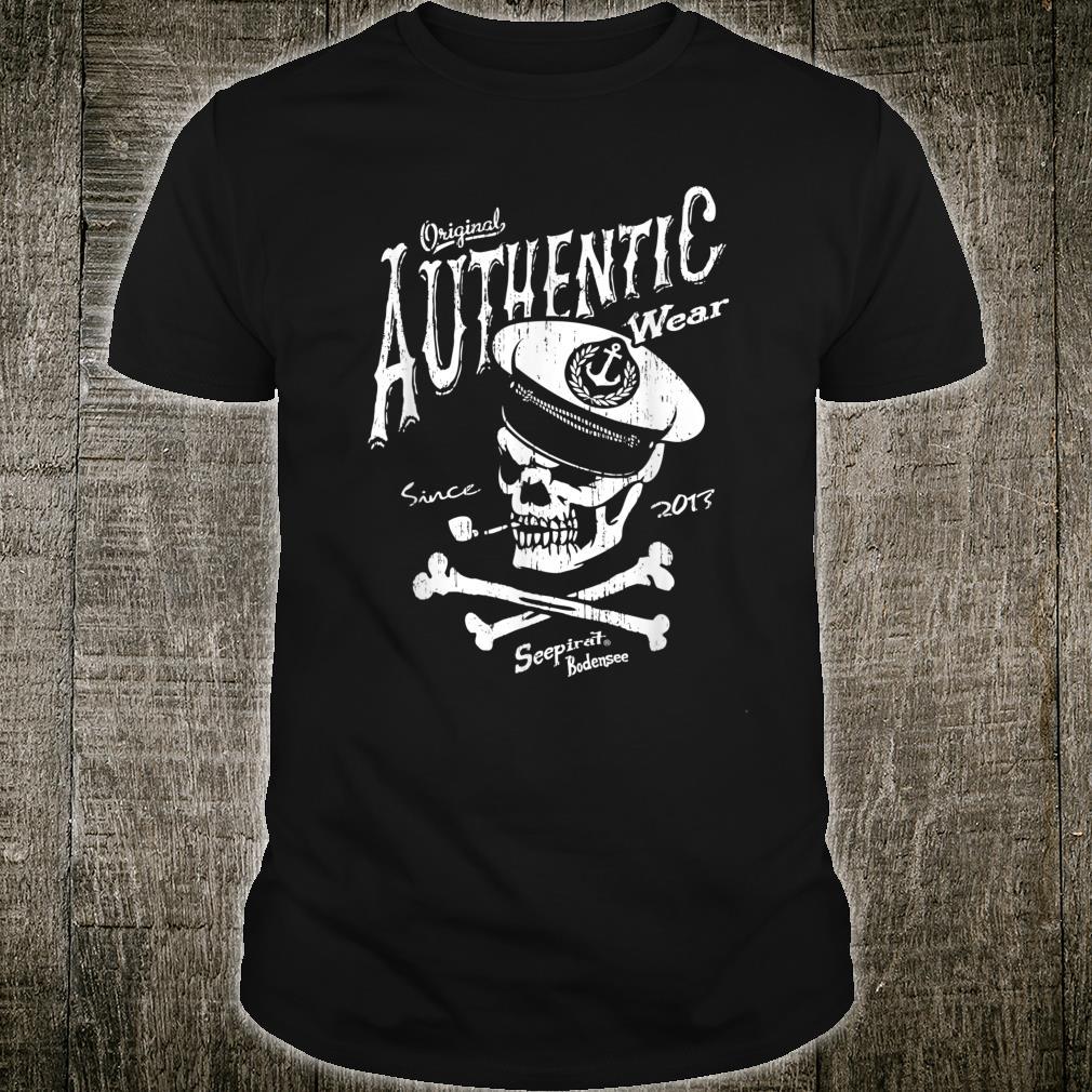 Authentic Wear Bodensee Vintage Scull Kapitän Schiff Lindau Shirt