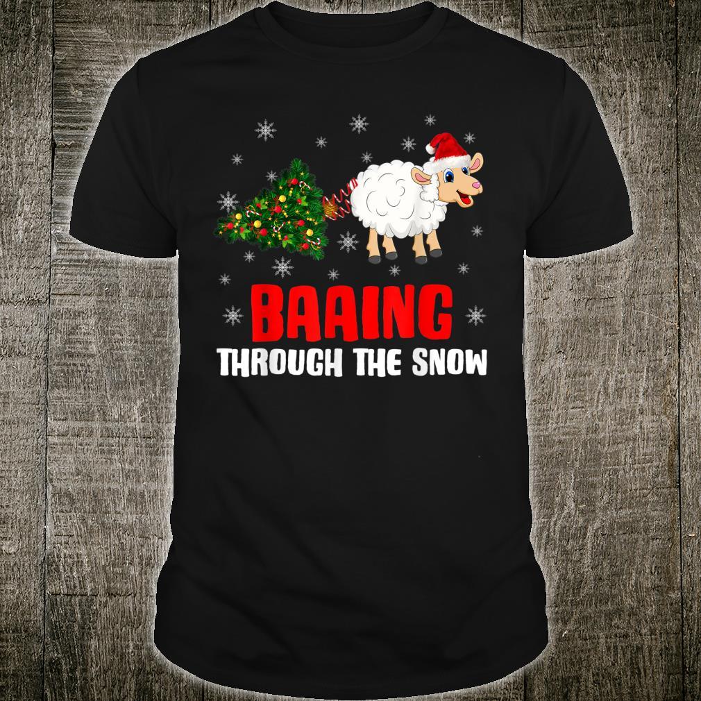 Baaing Through The Snow Christmas Sheep Shirt
