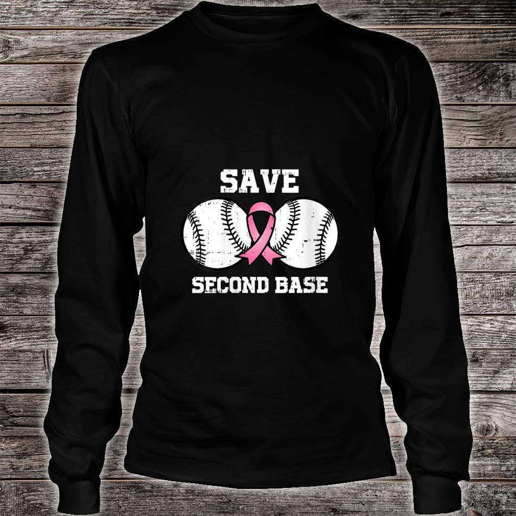 Baseball Pink Ribbon Fight Cool Breast Cancer Awareness Shirt long sleeved