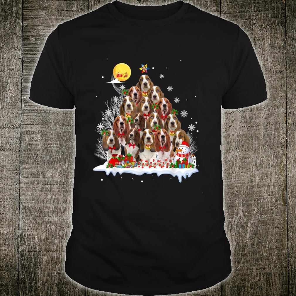 Basset Hound Dog Reindeer Pine Christmas 2020 Shirt