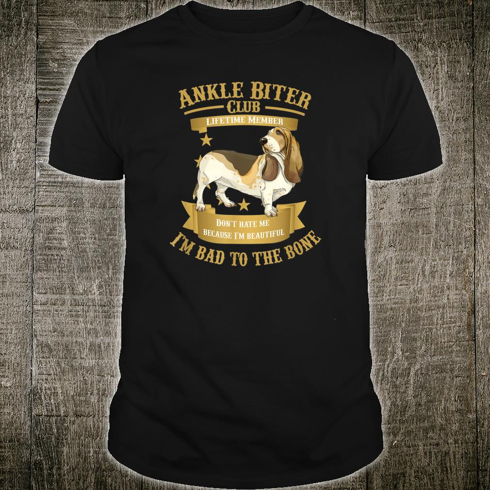 Basset Hound Puppy Dogs I'm Bad to the Bone Shirt