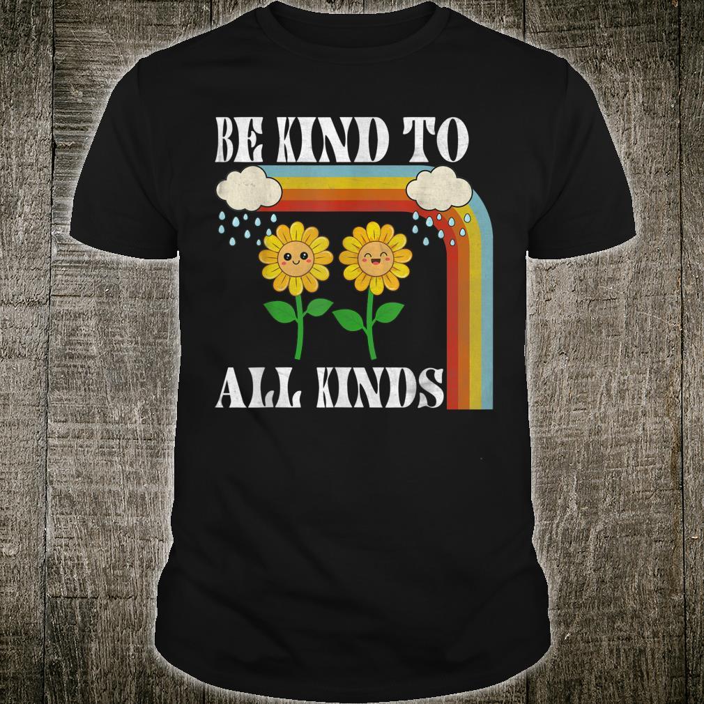 Be Kind To All Kinds Beautiful Sunflower Shirt