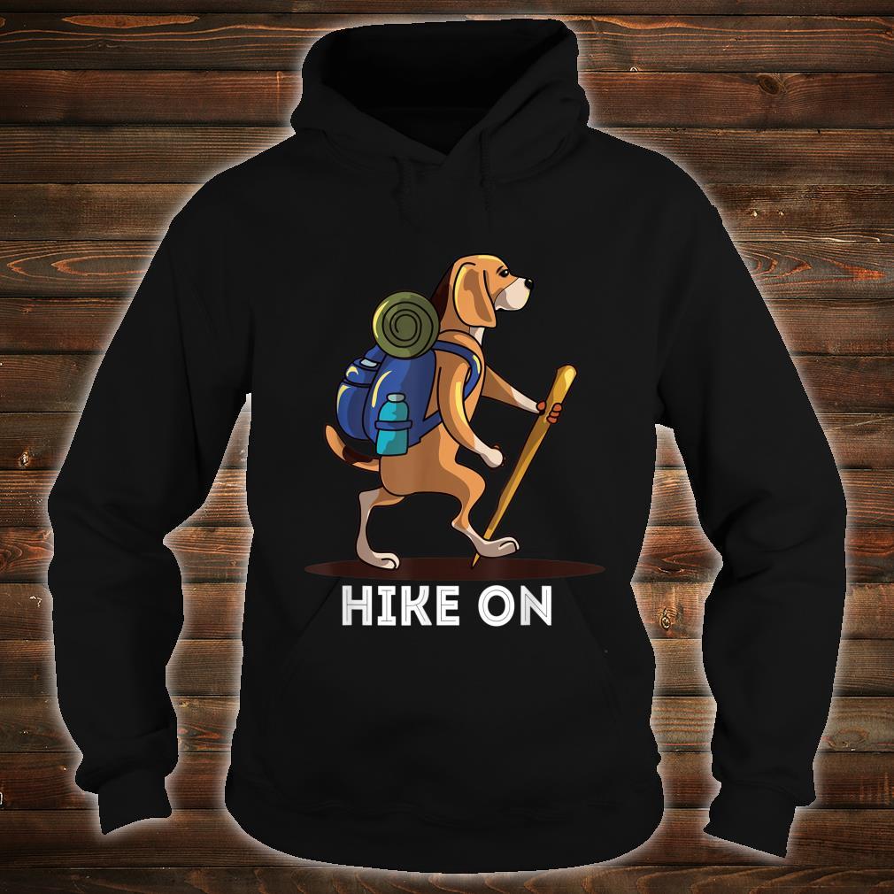 Beagle Dog Lover Hiking Adventure Shirt hoodie