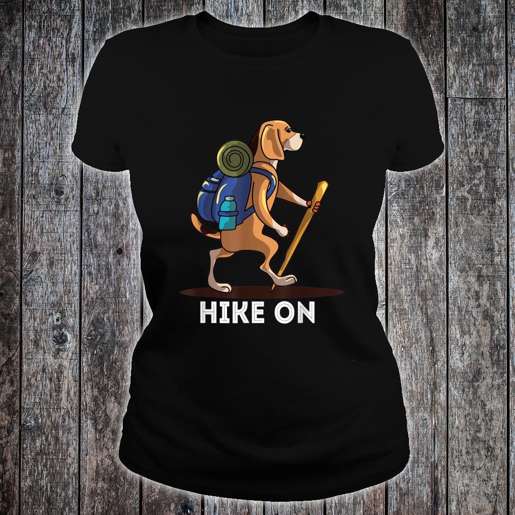 Beagle Dog Lover Hiking Adventure Shirt ladies tee
