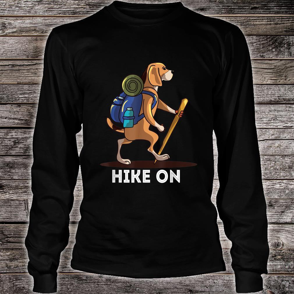 Beagle Dog Lover Hiking Adventure Shirt long sleeved