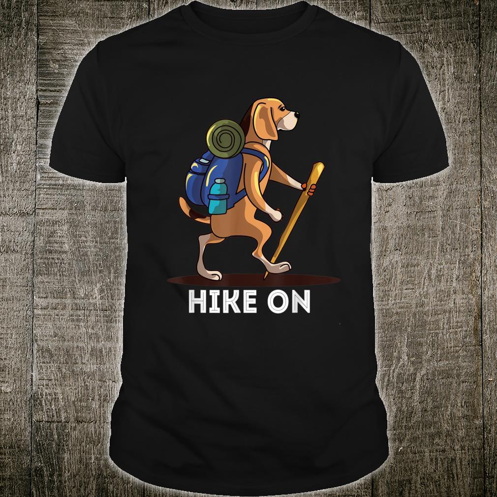 Beagle Dog Lover Hiking Adventure Shirt