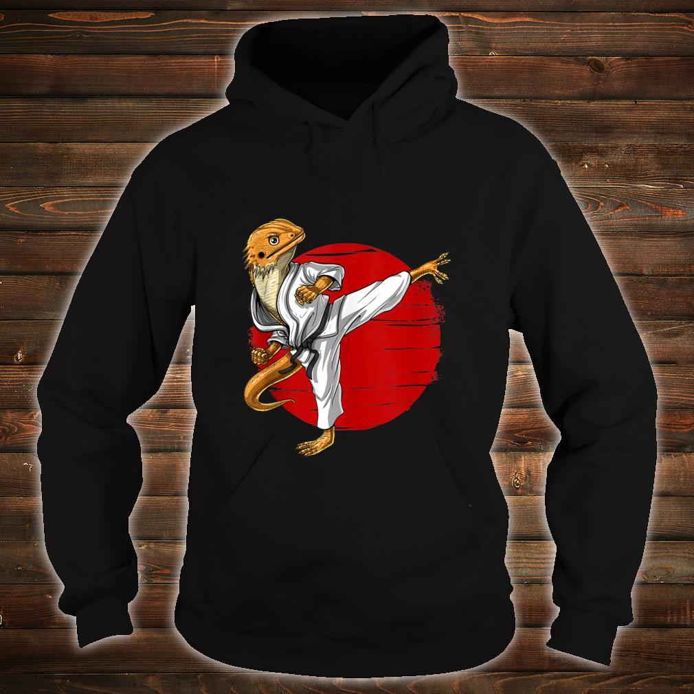 Bearded Dragon Karate Ninja JiuJitsu Taekwondo Martial Arts Shirt hoodie