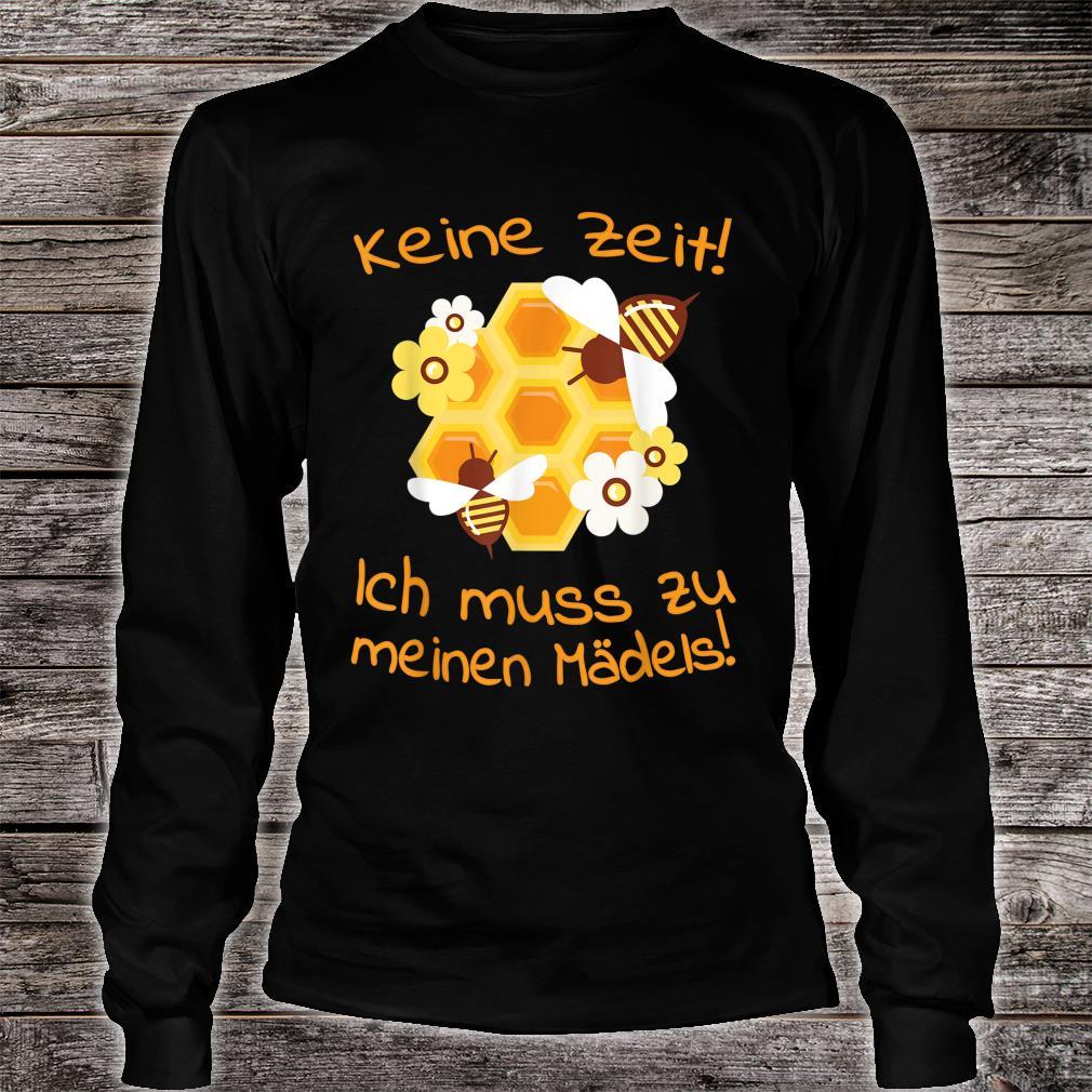 Beekeepers Bee Motif Honeycomb Flowers Shirt long sleeved