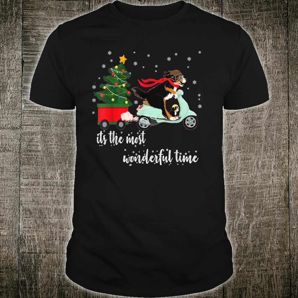 Bernedoodle Bernese Christmas matching Pajamas Snow Shirt