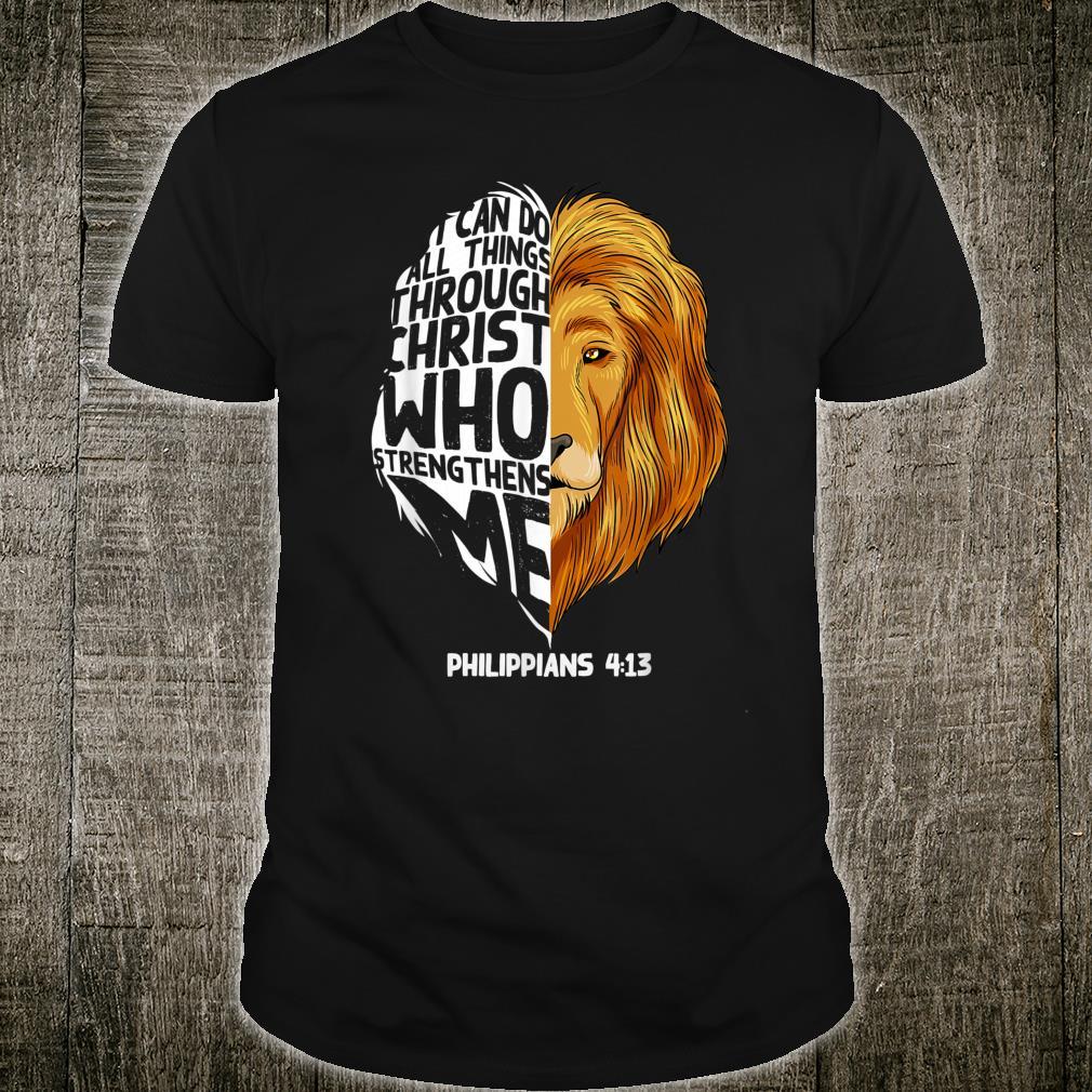 Best Philippians 413 Christian Lion Head Kid Shirt