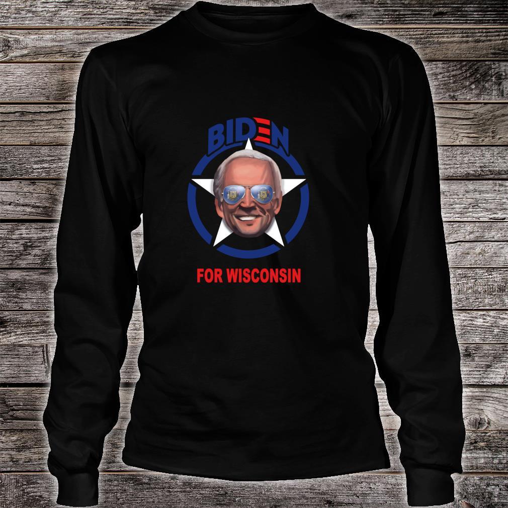 Biden for Wisconsin Shirt long sleeved