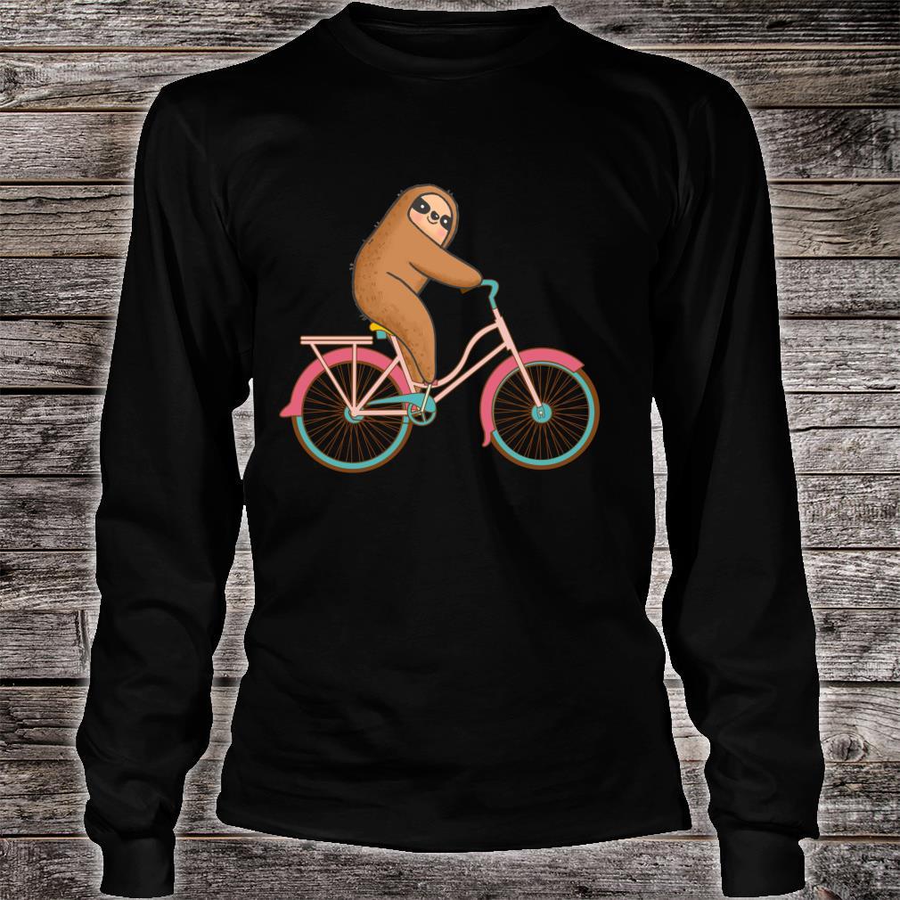 Biking Sloth Design Sloth Sloth Biking Shirt long sleeved