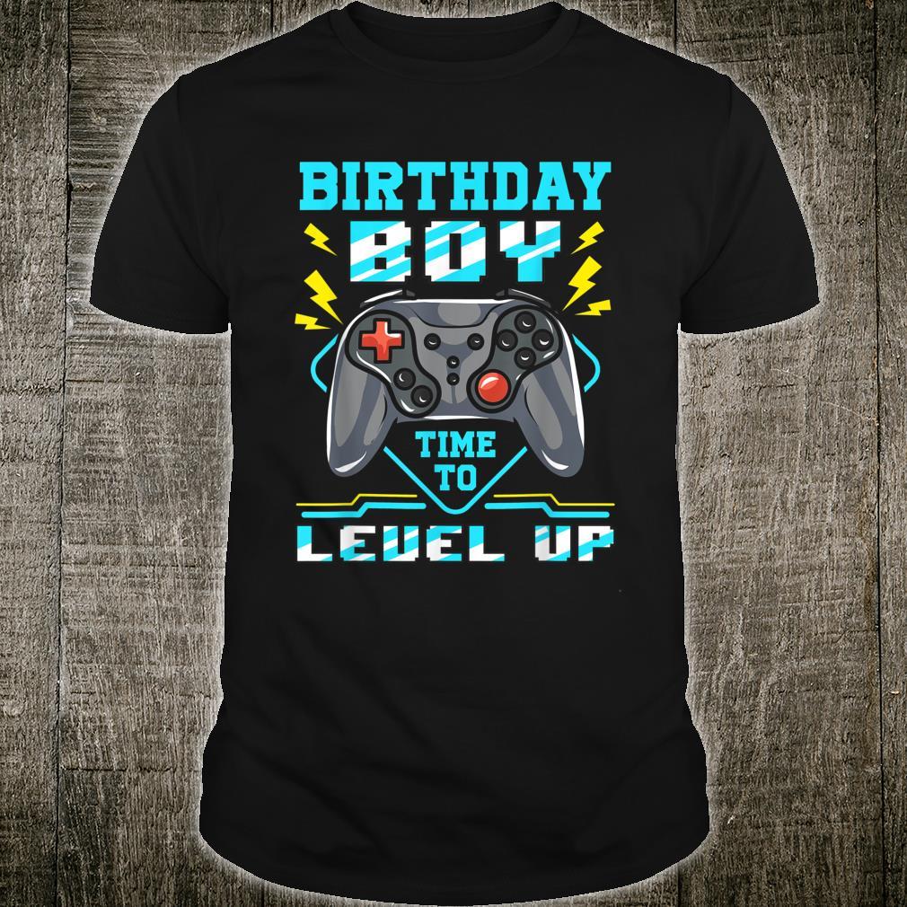 Birthday Boy Time To Level Up Gamer Shirt