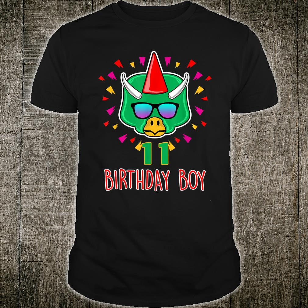 Birthday Dinosaur 11 Year Dino Shirt