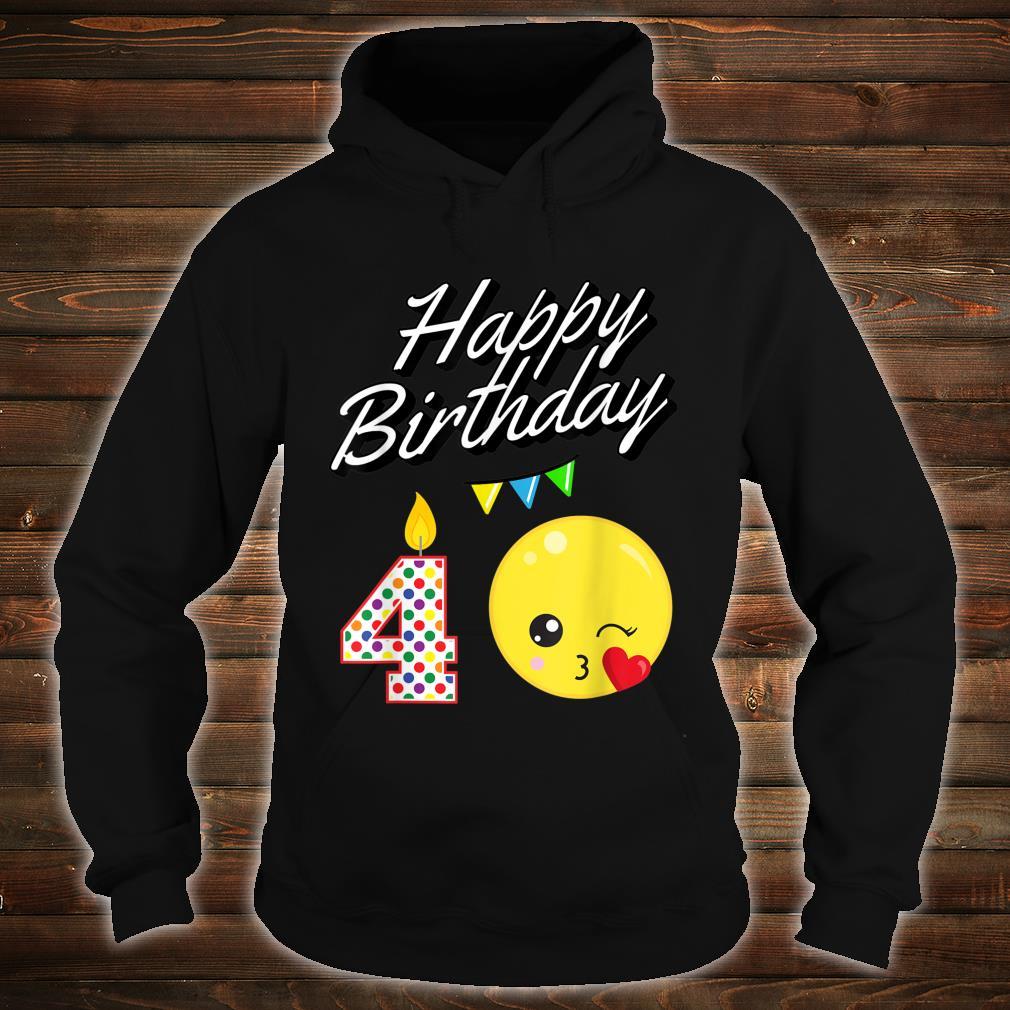 Blowing Kawaii For 4 Year Old Birthday Shirt hoodie