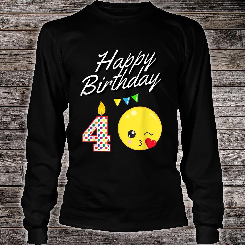 Blowing Kawaii For 4 Year Old Birthday Shirt long sleeved